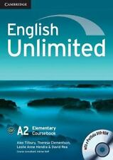 English Unlimited Elementary Coursebook with E-Portfolio by Alex Tilbury...