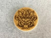 RARE !!!  WHISTLING STRAITS  FACE  LOGO  CARAMEL  BALL MARKER  by  WASTE LAB