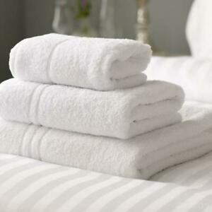 White Bath Towels 600GSM Egyptian Collection Organic Cotton Pack of 4