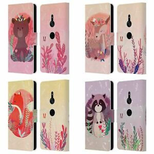 HEAD CASE DESIGNS WOODLAND ANIMALS LEATHER BOOK WALLET CASE FOR SONY PHONES 1