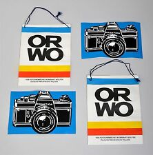 ORWO-Papiertüten und PRAKTIKA-Aufkleber je 2 Stück