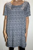 Queen of Everything Brand Blue Short Sleeve Tunic Top Size 2 LIKE NEW #AN02