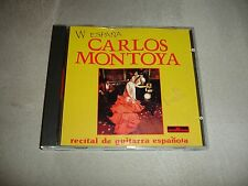 Carlos Montoya Recital De Guitarra Espanola CD W Espana UPC 8004883002221