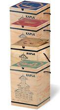KAPLA Steine 280er BOX mit Kunstbuch Farbe nach Wahl - Holzbausteine natur