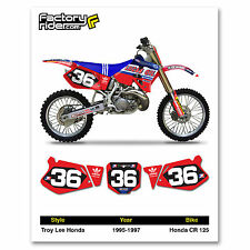 1995-1997 HONDA CR 125 Number Plate Dirt Bike Graphics TLD By Enjoy MFG