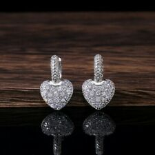 Fashion 925 Silver Drop Earrings for Women White Sapphire Jewelry A Pair/set