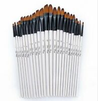 12pcs/ 24pcs Artist Paint Brushes Set Acrylic/Oil/Watercolor Paintbrush US