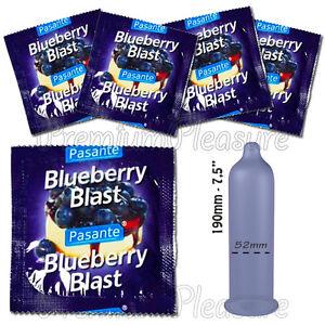 Pasante Blueberry Blast Parfumé Condoms Goût 1 - 3 - 10 - 20 - 50 - 100pcs