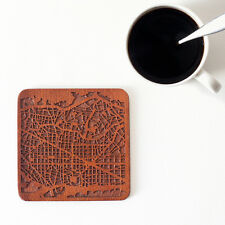 Barcelona map coaster One piece wooden coaster Multiple city Ideal Gifts
