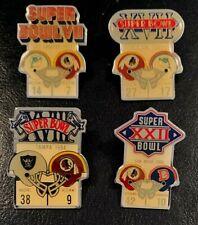 Washington Redskins Set of 4 Nfl Super Bowl Pins Starline Collector-Vintage Rare