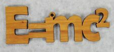 E=MC2-Einstein Physics Relativity Mass Energy Science Nestled Pine wood ornament