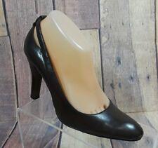 Nine West Women's Burgundy Leather Slip On Pumps Heels Shoes Size 7.5 M