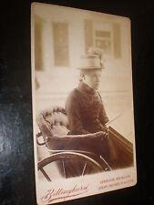 Cdv old photograph woman bath chair or wheelchair by Billinghurst c1880s