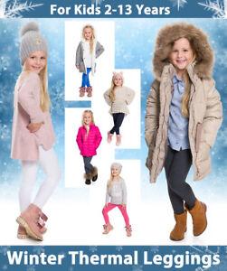 Winter Dick Kinder Baumwolle Leggings Thermo Fleece Innen Alter 1-13 CHD28