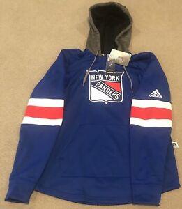 $100 Adidas New York Rangers NHL Pullover Hoodie Men's S DN2584