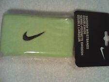 NEW Nike Swoosh Wristbands Tennis Federer Rafa Nadal Tennis Cyber Green / Black