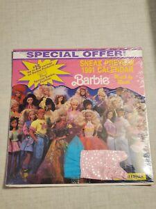 Vintage Toys 1991 Barbie Calendar Factory Sealed
