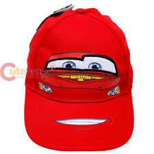 Cars Mcqueen Baseball Cap Kids Baseball Boys Hat Canvas Big Face  - Piston Cup