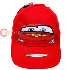 Cars Mcqueen Baseball Cap Kids Baseball Boys Hat Canvas Big Face  - Piston Cup