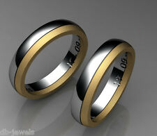 Pair of Wedding bands 14k SELECT YELLOW or  WHITE or ROSE GOLD DA510