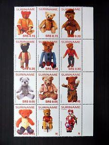 SURINAME 2005 Teddy Bears 2nd Series Block of 12 SG2092a U/M FP9558