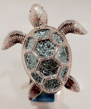 BATH & BODY WORKS WALLFLOWERS SILVER & BLUE SEA TURTLE PLUGIN NIGHT LIGHT NEW!