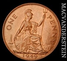 Great Britain: 1949 One Penny - Scarce  High Grade  #NR8371