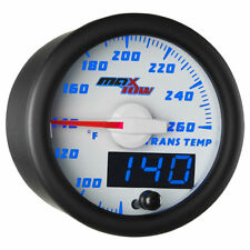 MaxTow 52mm White & Blue Double VisionTransmission Temperature Gauge- MT-WBDV12