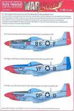 Kits World Decals 1/48 P-51 NUMBERS LETTERS & KILL MARKINGS Natural Metal