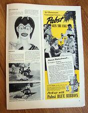 1939 Pabst Blue Ribbon Beer Ad at Cocoanut Grove Hotel Ambassador