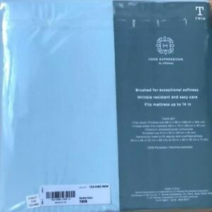 JC Penney Home Expression Microfiber Twin Size Sheet set Serene Aqua NEW