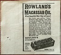 Rowland's Macassar Oil, What Beautiful Hair They All Have Vintage Advert 1922