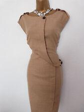 Karen Millen camel laine Crayon Wiggle Work Office Occasion Robe Taille 12