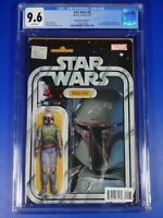 CGC Comic graded 9.6 star wars #4D Boba Fett figure variant cover Key
