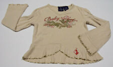 BABY PHAT GIRLS SIZE 4 TOP SHIMMERY DRAGON SHIRT RUFFLES