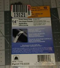 "NAPA 14"" Heavy Duty Stainless Steel Cable Zip Ties 250 Lbs 10 Ct 770-9336"
