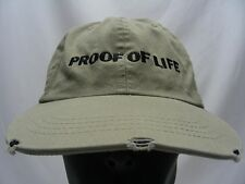 PROOF OF LIFE - DISTRESSED STYLE - ADJUSTABLE BALL CAP HAT!