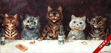 LARGE CANVAS PRINT BACHELOR PARTY TOM CATS DRINKING LOUIS WAIN PAINTING CAT ART
