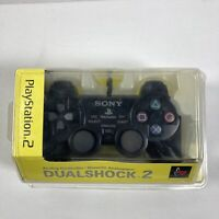 Sony Playstation 2 PS2 Black Dualshock 2 Controller New Sealed SCPH-10010 OEM
