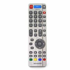Genuine Sharp Aquos RF Smart TV Remote Control with YouTube and NET+ Buttons