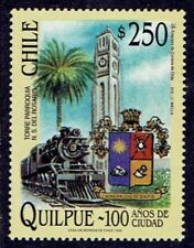CHILE 1999 STAMP # 1955 MNH QUILPUE CITY LOCOMOTIVE RAILDOADS