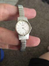 Woman Ladies Silver Quartz Seiko Wrist Watch