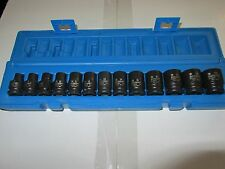 "3/8""dr 6 point ACTION BRAND  IMPACT SOCKET 13pc SET IN METRIC SIZES (BRAND NEW)"