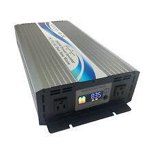 Inversor De Energía Solar 3000W fuera Red Onda Senoidal Pura 110V de CC a 12V/24V/48V de Ca Lcd