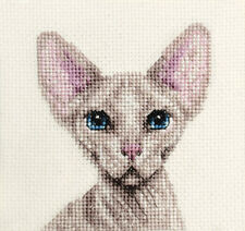 SPHYNX CAT, KITTEN Full counted cross stitch kit + All materials  *FIDO STUDIO