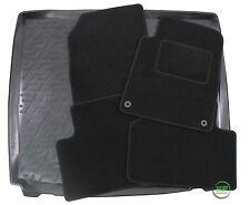 PEUGEOT 407 4 DOOR SALOON  2004-11 Tailored black floor car mats + boot tray mat