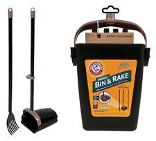 Petmate 71034 Arm & Hammer Swivel Bin & Rake Pooper Scooper, Scented Bags Inc...