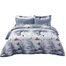 Queen size Duvet Cover Set 6 Piece w. Fitted Sheet Bedding by Dolce Mela