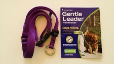 NEW DOG Gentle Leader PURPLE, Medium, Nylon, Premier