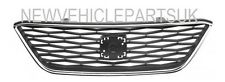 SEAT IBIZA 2012-2015 FRONT GRILLE MAIN TOP WITH CHROME FRAME INSURANCE APPROVED